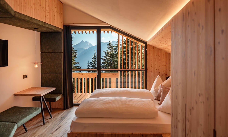 "Double room ""Peitlerkofel"" | Oberhauserhütte in South Tyrol"
