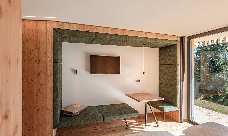 "Double room ""Rodenecker Alm"" | Oberhauserhütte | Alpine Hotel South Tyrol in the Dolomites"