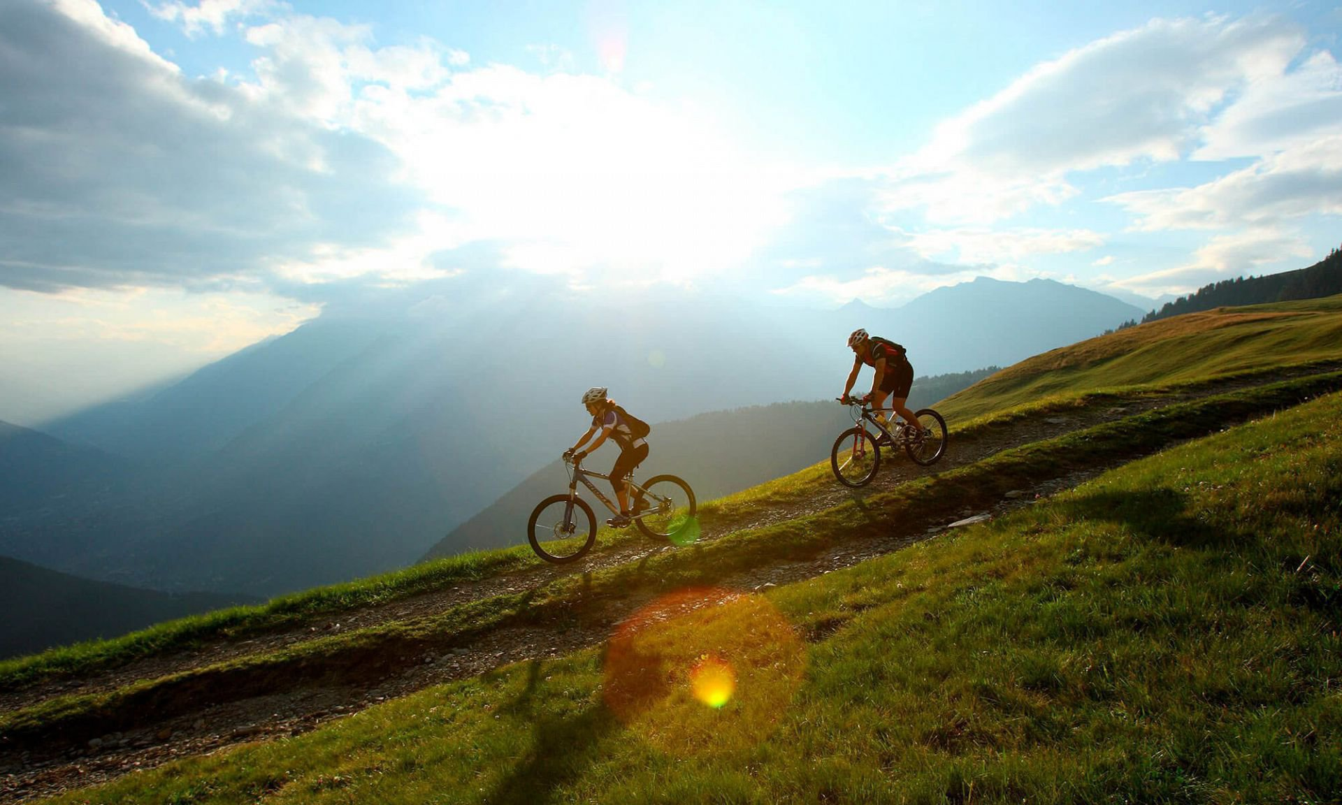 Mountain bike all'Alpe