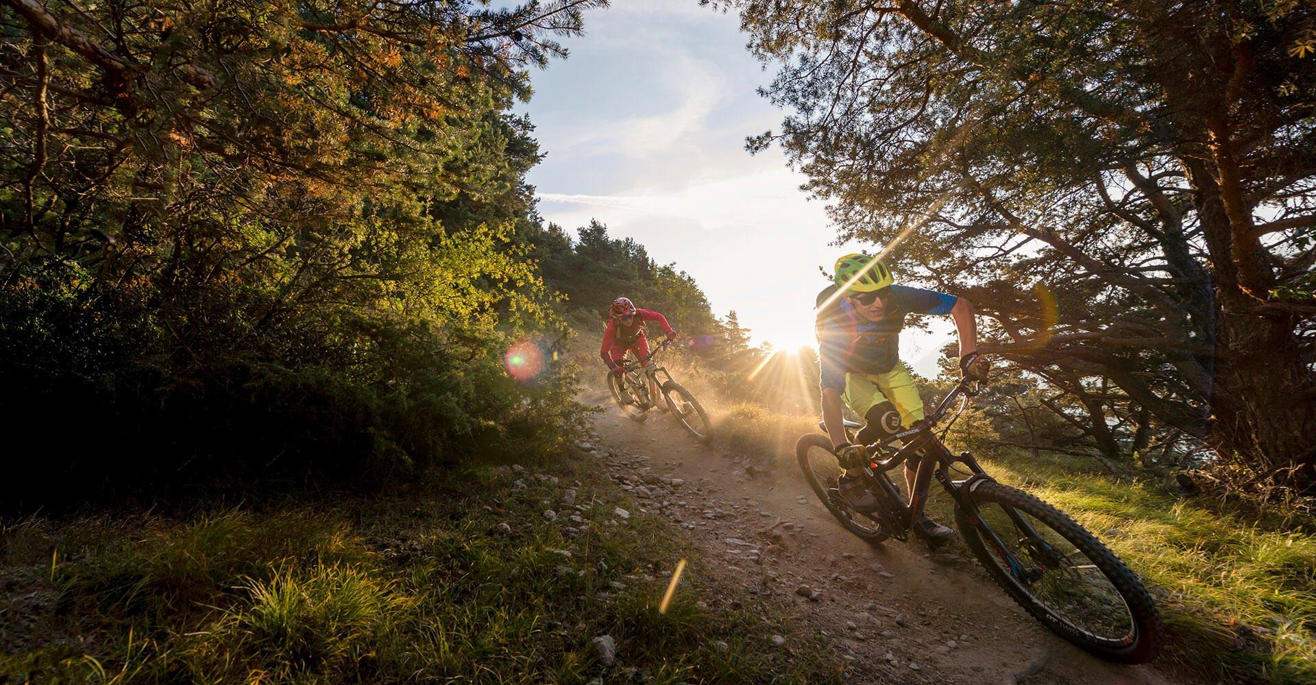Mountainbiken auf der Alm