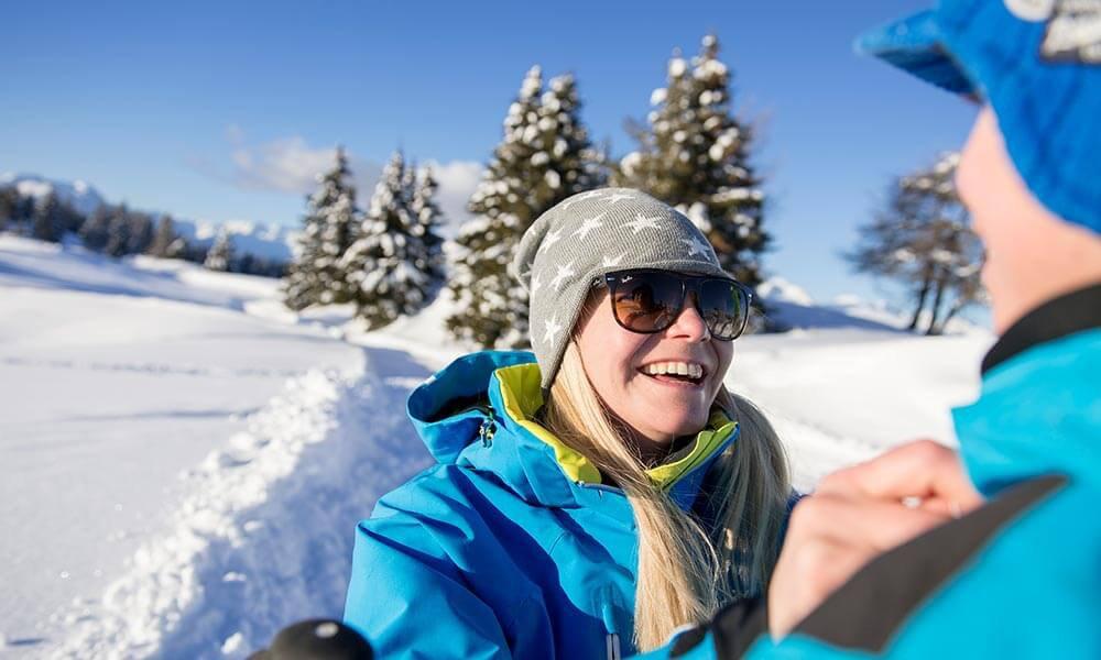 Winterurlaub auf der Rodenecker/Lüsener Alm
